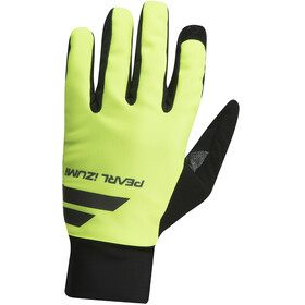 PEARL iZUMi Escape Softshell Gloves Men black/screaming yellow